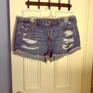 AE Tomgirl Shorties Denim Shorts